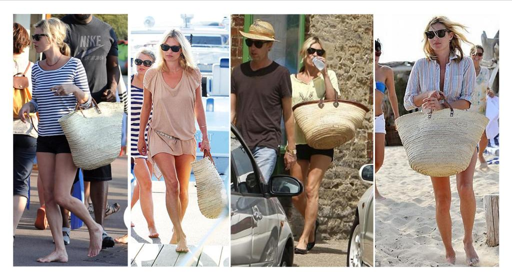 kate moss straw bag holiday style