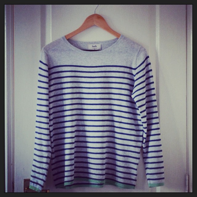 hush striped tipped jumper