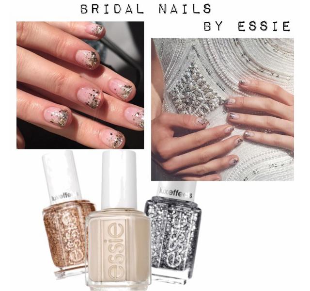 bridal nails by Essie