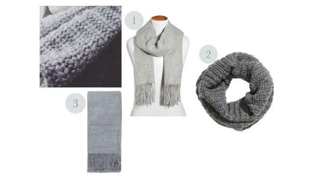 grey scarves
