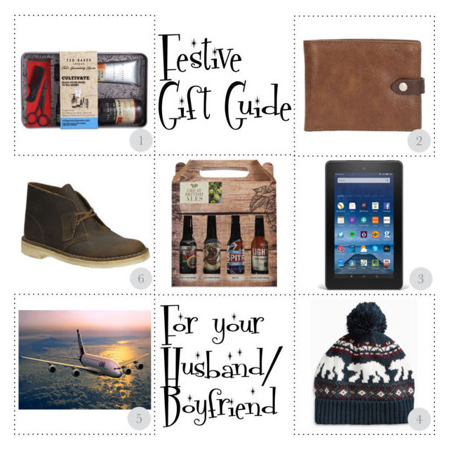 festive gift guide for your husband or boyfriend